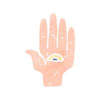 retro cartoon hand symbol