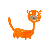 retro cartoon funny cat