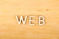 "Wooden letters ""web"""
