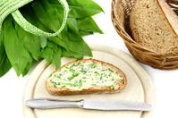 herb butter ramson (Allium ursinum) on bread