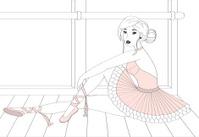 Prima Ballerina at the dancestudio