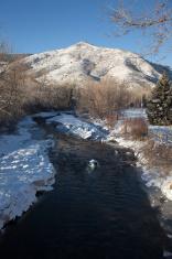 Winter on Clear Creek Golden Colorado