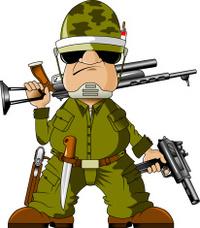 Cartoon Soldier With Gun stock photos - FreeImages.com Soldier With Gun Cartoon