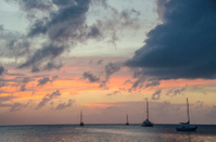 Boats and Pastel Sky