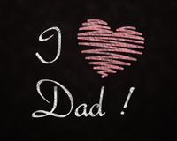 Chalkboard Love for Dad