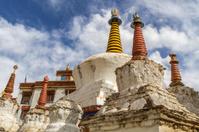 Old stupas at Lamayuru monastery in Ladakh, India