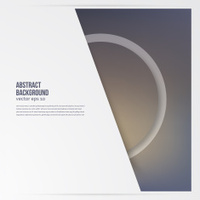 Vector circle object. design trend and transparent