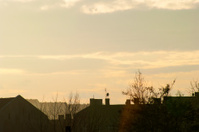 Rooftops with evening sky