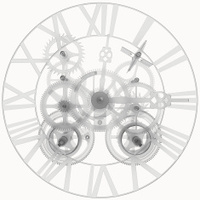 Transparent clock mechanism