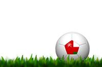 3D Football Oman Flag