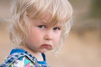 blonde sad little girl