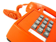 Vintage orange telephone 2