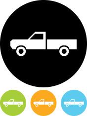 Vector pickup truck icon