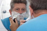 Wet shaving foaming up