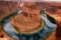 Horseshoe bend of Colorado river in Page Arizona - USA