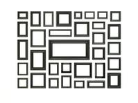 Black picture frames.