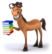 Billedresultat for horse reading