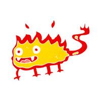 Cartone Animato Piccolo Demone Con Nuvoletta Stock Vector