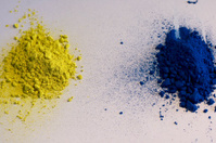 Yellow and blue pigments