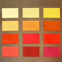 Red leather samples