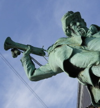 Little hornblower 19th century war memorial - Copenhagen