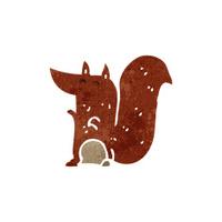 retro cartoon red squirrel