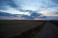 Sunrise in the rural scene