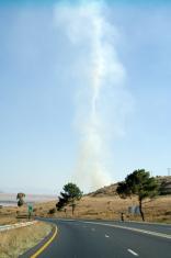 Smoke in tornado form