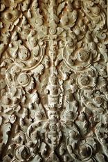 Sculpted wall at corridor of Angkor Wat, Cambodia
