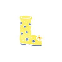 retro cartoon wellington boot