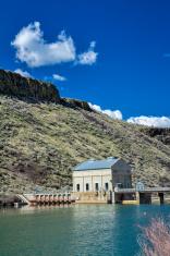 Boise reiver at the diversion dam