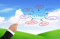 businesswoman  analysing website structure schema