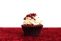 Red Velvet Cup Cake On Velvet