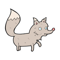 cartoon wolf cub