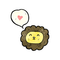 cartoon lion face (raster version)