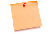 Blank Orange Post IT Note Stock Photos - FreeImages.com