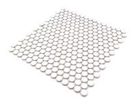 White circular mosaic tile board