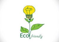 light bulb plant growing  eco energy concept
