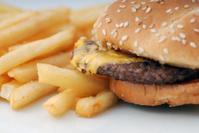 Cheeseburger closeup
