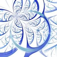 Dark blue purple black fractal flower