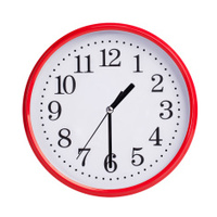 Half of the second round on a clock face