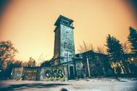 Abandoned industrial buildings.
