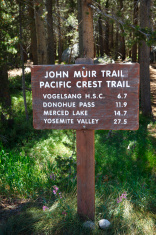 John Muir and Pacific Crest Trail Sign