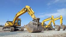 Parked Excavators