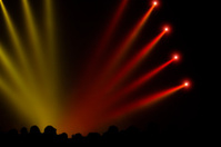 Red and Yellow Concert Lighting
