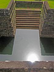 pond steps, tipu sultan fort wall, Palakkad, Kerala