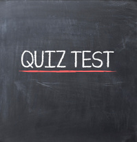 Quiz test on a blackboard