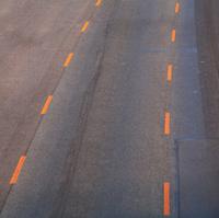 Road with orange lines