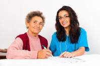 Social Service Provider Helping Elderly