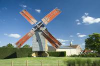 Windmill at summer